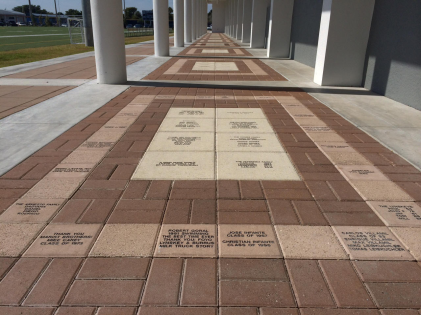 EBF Walkway multi size pavers red and caststone 8.31.15 wee